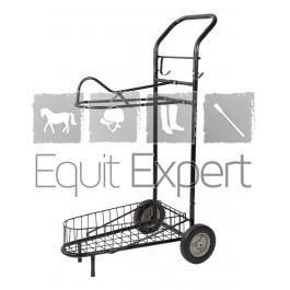 Chariot porte-selle roulant noir PFIFF 101567