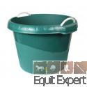 Abreuvoir & mangeoire vert de 45 litres pour chevaux.