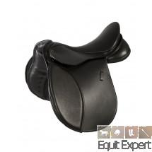 Selle Haflinger VISION PFIFF noir esthétique grâce au cuir de vachette de qualité et à l´excellente finition. Arcade extra large pour Haflinger 004173.