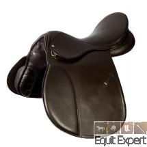 Selle Haflinger PFIFF arcade très large 18 pouces en cuir de vachette, couleur Noir ou Marron 004432.