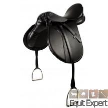 Selle mixte PFIFF Beauty en cuir vendue avec étriers et étrivières 004726.