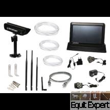 Caméra de surveillance sans fil pour écurie, Box, paddok complet avec écran, caméra vision nocture application gratuit pour portable...