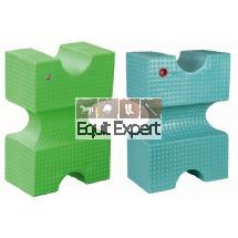 Bloc cavaletti PFIFF très solide et remplissable. Bleu ou Vert. 001140