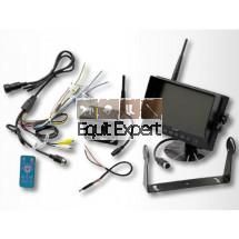 """Caméra de recul 7"""" sans fils écran LCD caméra 130° pour véhicule Agricole, Tracteur, Remorque, engins TP, Manutention Alimentation 12V ou 24V"""