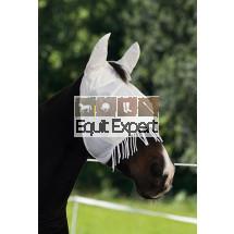 Masque de protection cheval, contre les insectes noir ou blanc.