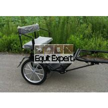 Sulky poney PFIFF noir, Voiture poney 2 roues avec frein disque